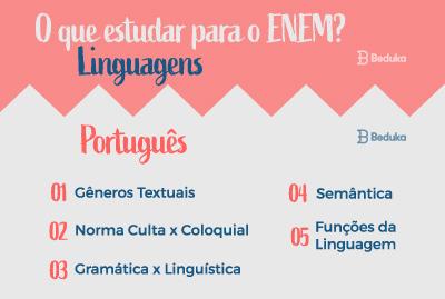 O que estudar para o Enem Linguagens Português