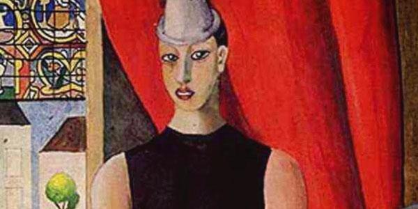 pintura do Pierrot de Di Cavalcanti na Semana da Arte Moderna