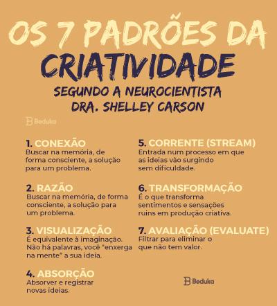 7 padrões da criatividade segundo a neurocientista dra. Shelley Carson