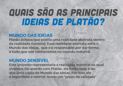 Quais são as principais ideias de Platão