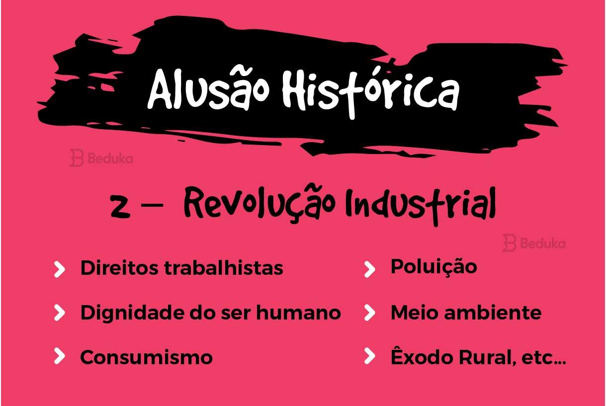 alusão histórica sobre revolução industrial