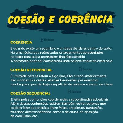 qual a diferença entre coesão e coerência
