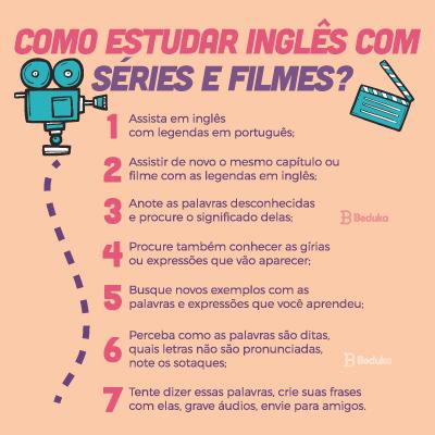 como estudar inglês com séries e filmes