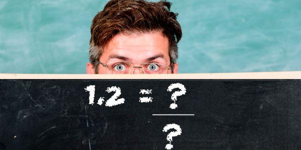 Como transformar número decimal em fração?