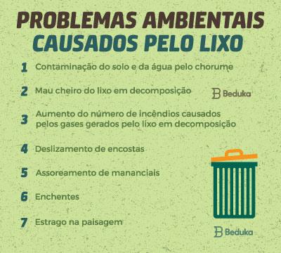 problemas ambientais causados pelo lixo