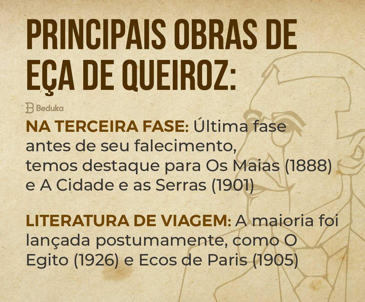 continuação das principais obras de Eça de Queiroz