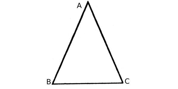 Esse é o triângulo isósceles