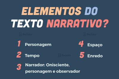 quais são os elementos do texto narrativo
