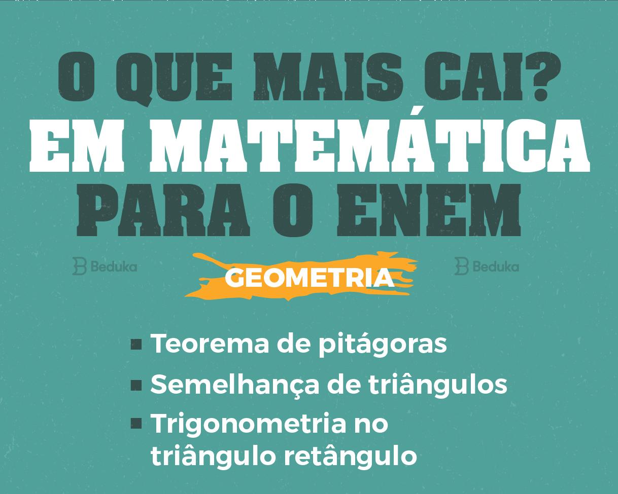 assuntos de matemática que mais caem no enem geometria