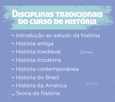disciplinas tradicionais do curso de história