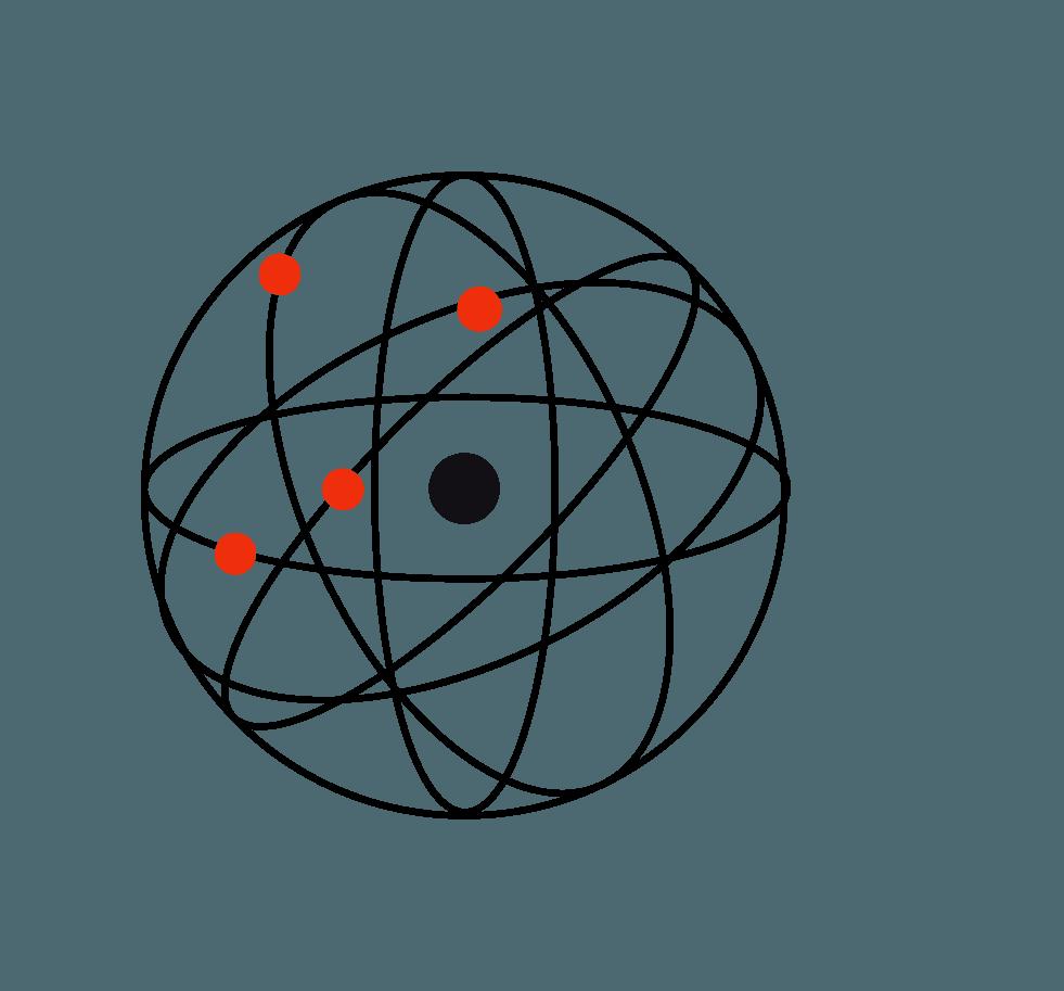modelo atômico de Rutherford no resumo de estrutura atômica