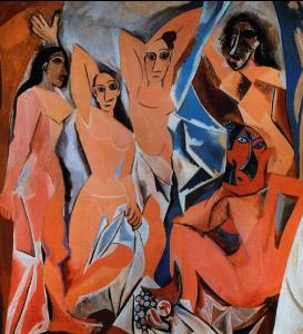 As damas d'Avignon de Pablo Picaso exercícios de vanguarda europeia