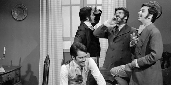 Felipe, Augusto, Fabrício e Leopoldo no resumo do livro A moreninha