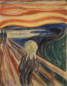 O Grito de Edvard Munch questões de vanguarda europeia