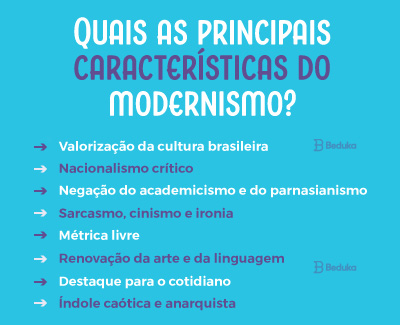 quais as principais características do modernismo