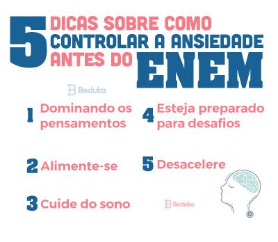 5 dicas de como controlar a ansiedade antes do Enem