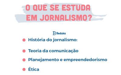 O que se estuda em jornalismo