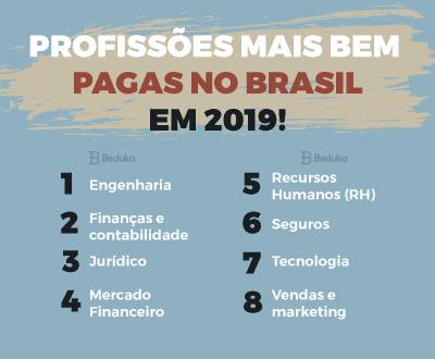 Profissões mais bem pagas no brasil em 2019