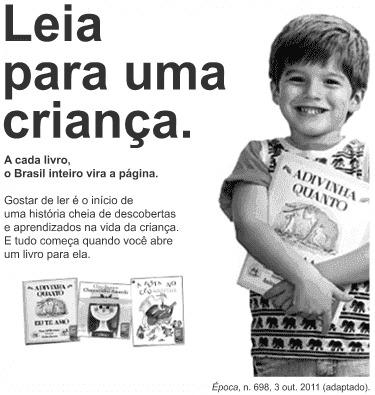 Cartaz para interpretação de texto com uma criança e livros