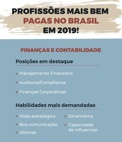 profissões mais bem pagas no Brasil em Finanças e Contabilidade