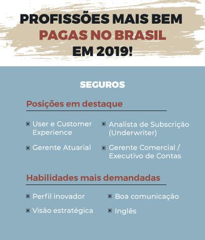 profissões mais bem pagas no Brasil em Seguros