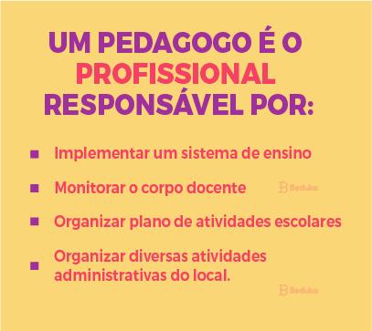 quais as responsabilidades do pedagogo