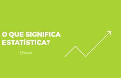 o que significa estatística