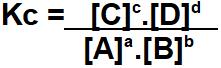 constante de equilibrio quimico