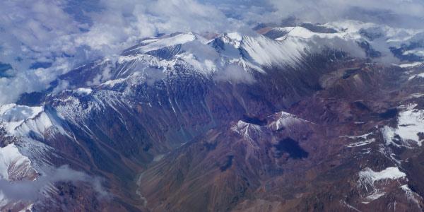 cordilheira dos andes como exemplo de tipo de relevo, a montanha