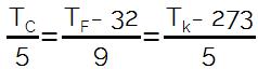 formula temperatura