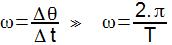 formula velocidade angular