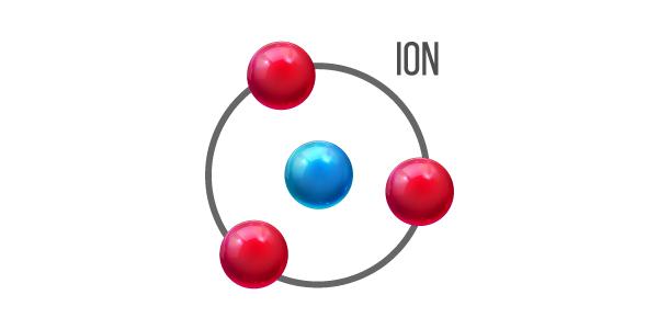 exeplo da estrutura do que é um íon