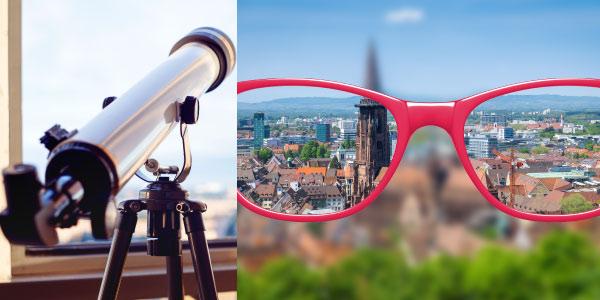 Exercícios de Óptica telescópio Oculos De Grau-