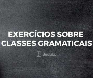 Exercícios Classes Gramaticais