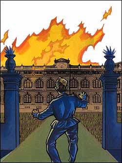 O Ateneu pega fogo - resumo