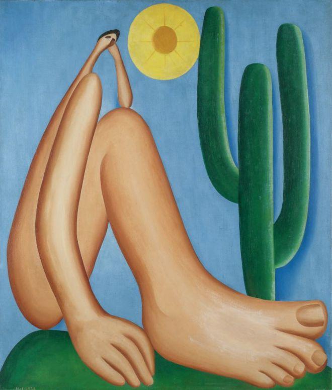 pintura Abaporu de Tarsila do Amaral cobrada em Exercícios sobre Modernismo
