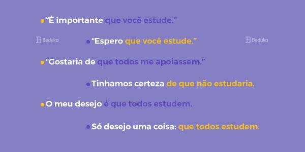 exemplos de orações subordinadas substantivas