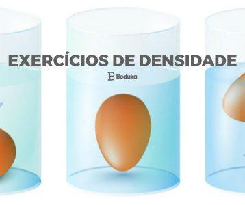 Exercícios de Densidade
