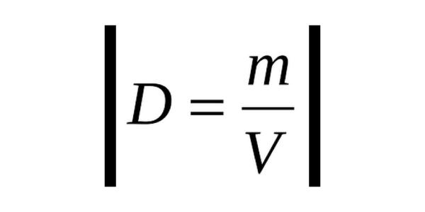 formula densidade