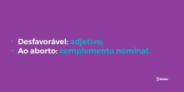exemplo adjunto adnominal