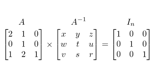 matriz-inversa-sistema-Exercícios de Matrizes