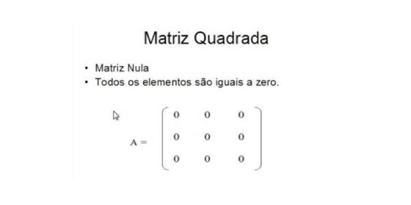 matriz quadrada Exercícios de Matrizes