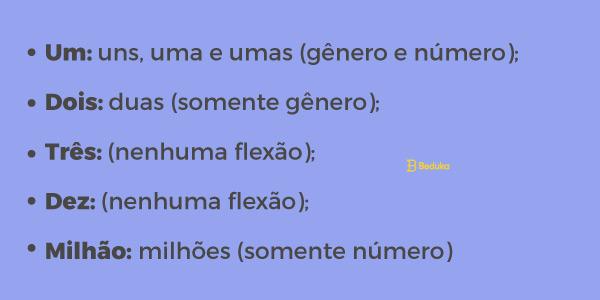 flexao numerais