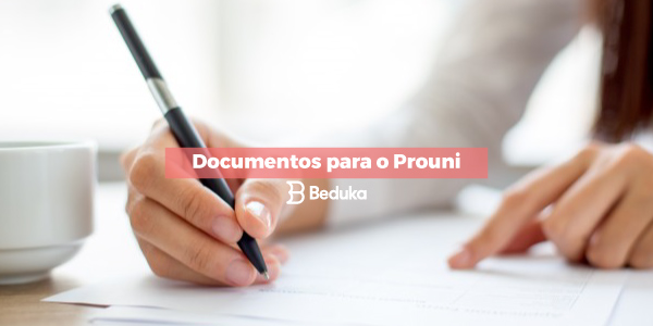 Documentos para o Prouni