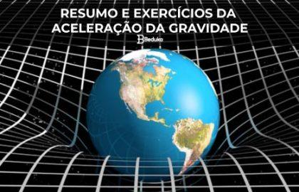 Exercícios da Aceleração da Gravidade