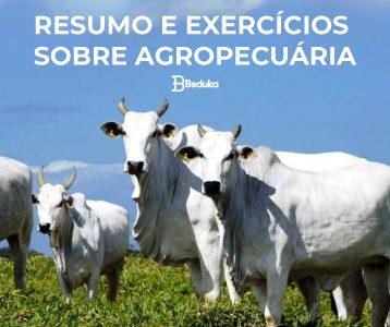 EXERCÍCIOS SOBRE AGROPECUÁRIA