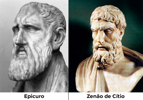 Epicurismo e Estoicismo - Epicuro e Zenão de Cítio