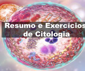 Exercícios de Citologia