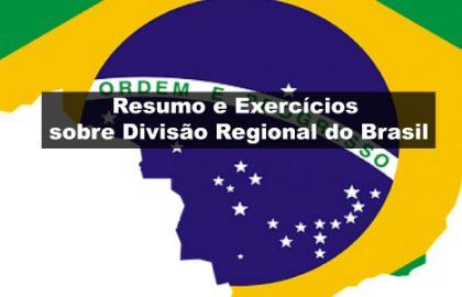 Exercícios sobre Divisão Regional do Brasil