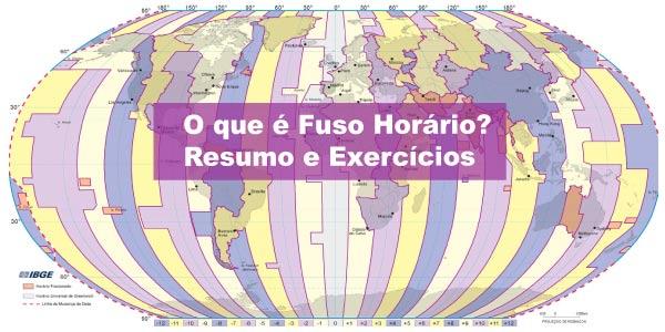 Exercícios sobre Fuso Horário